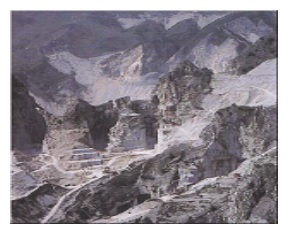 Marble is obtained in blocks from natural quarries