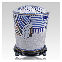 Any cloisonne urn is a unique work of art that will perfectly memorialize your loved one