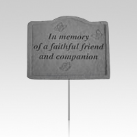 In Memory Of A Faithful Friend Memorial Stake
