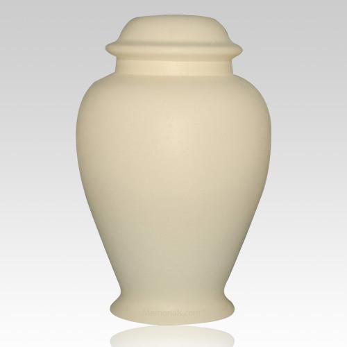 Classic Ivory Ceramic Cremation Urn