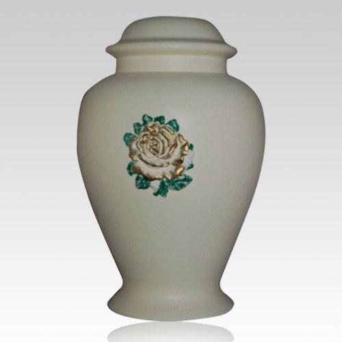 Charity Ivory Ceramic Cremation Urn