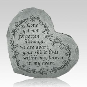 Gone Yet Not Forgotten Heart Stone