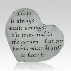 There Is Always Music Small Heart Stone
