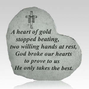 A Heart Of Gold Stone
