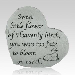 Sweet Little Flower Heart Stone