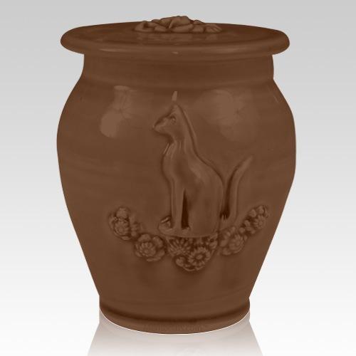 Kitty Ruby Black Ceramic Cremation Urn