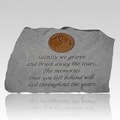 Silently We Grieve Garden Rock