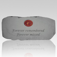 Forever Remembered and Missed Pet Memory Stone