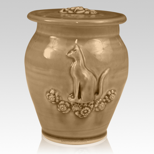 Kitty Pale Apple Ceramic Cremation Urn