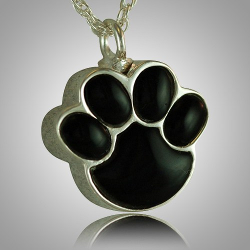 Pet Paw Onyx Cremation Keepsake