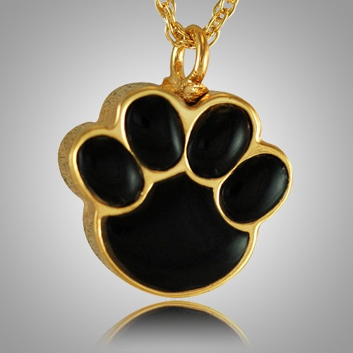 Pet Paw Onyx Cremation Keepsake IV