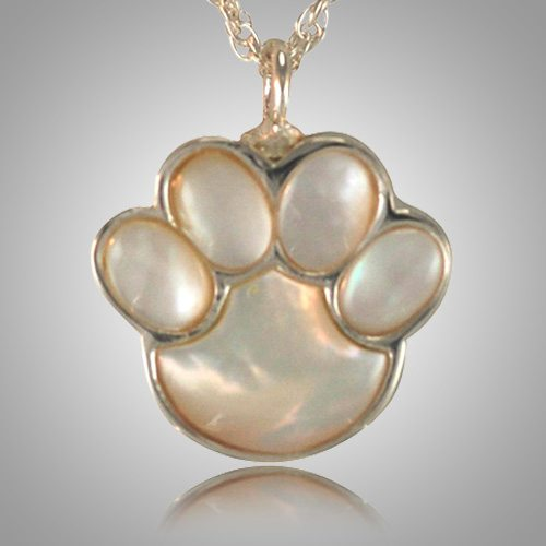 Pet Paw Pearl Cremation Keepsake