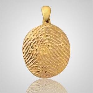 Regular Finger Print 14k Yellow Gold Keepsake