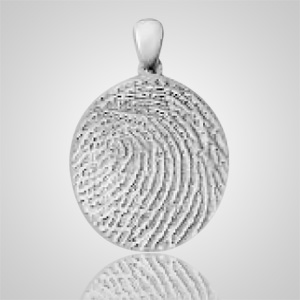 Regular Finger Print Sterling Silver Keepsake