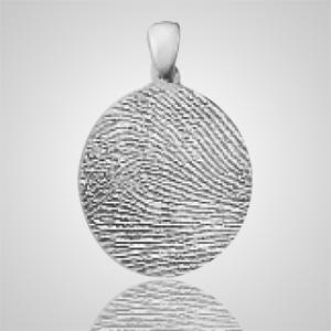 Regular Finger Print 14k White Gold Keepsake
