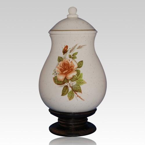 Serena Beige Ceramic Cremation Urn