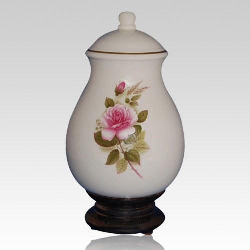 Serena Pink Ceramic Cremation Urn