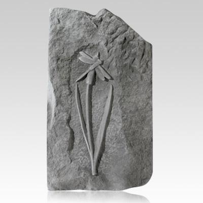 Cattail Dragonfly Obelisk Rock