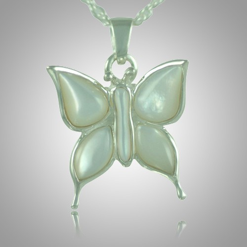 Butterfly Pearl Cremation Jewelry