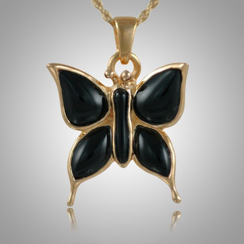 Butterfly Onyx Cremation Jewelry II