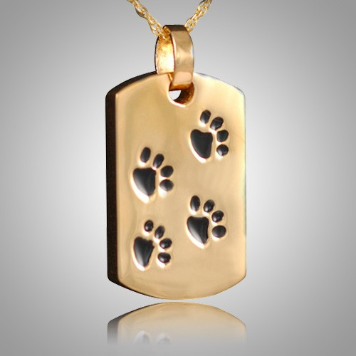 Pet Paw Print Dog Tag Keepsake II