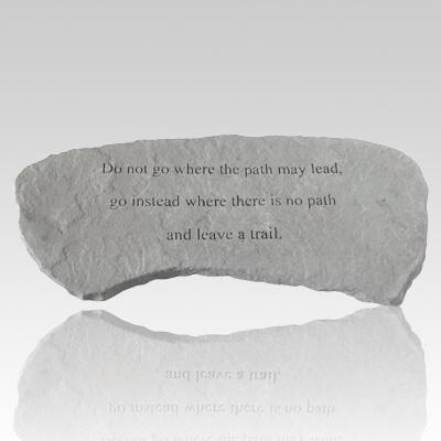Do Not Go Where The Path Bench