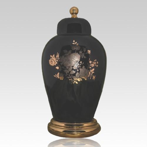Prince Black Ceramic Urn