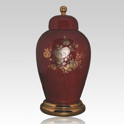 Prince Red Ceramic Urn