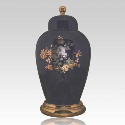Prince Blue Ceramic Urn