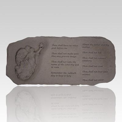 The Ten Commandments Angel Bench