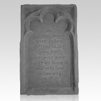 No Farewell Words Pet Memory Stone