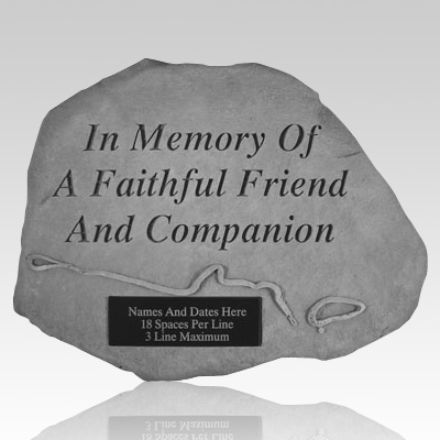 In Memory with Leash & Collar Stone