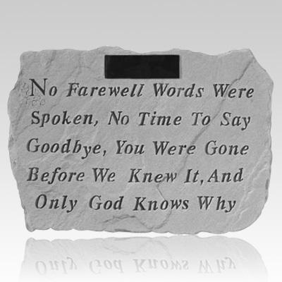 No Farewell Memorial Rock