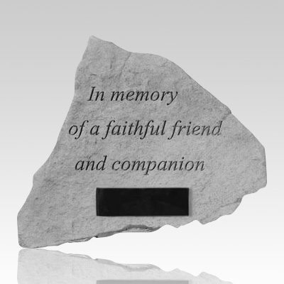 In Memory Of A Faithful Personalized Stone