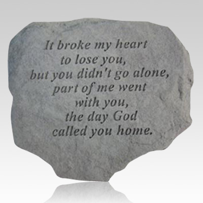 Broken Heart Pet Memory Stone