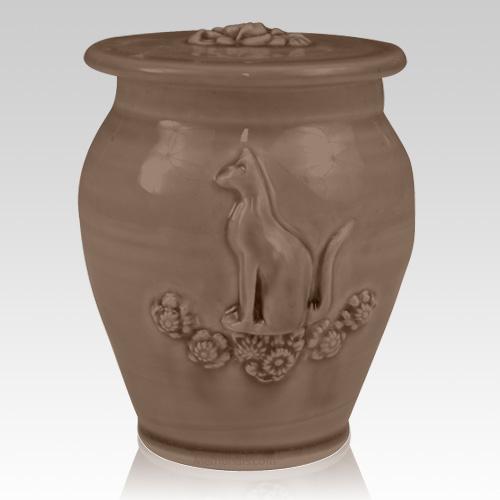 Kitty Black Bronze Ceramic Cremation Urn