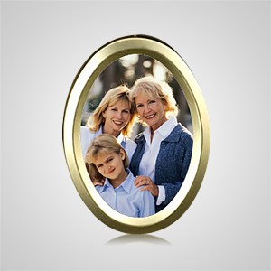 Medium Gold Oval Picture Frame