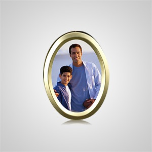 Small Gold Oval Picture Frame