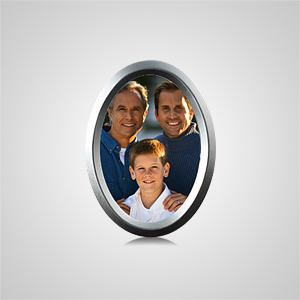 Small Oval Silver Picture Frame