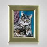 Large Rectangle Gold Pet Picture Frame
