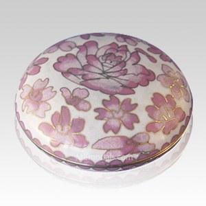 Rose Flowers Cloisonne Jewel Dish