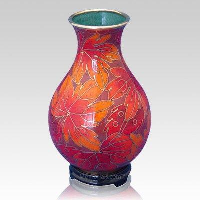 Fall Leaf Cloisonne Vase