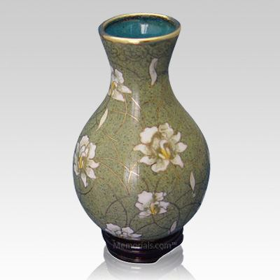Pear Blossom Cloisonne Vase