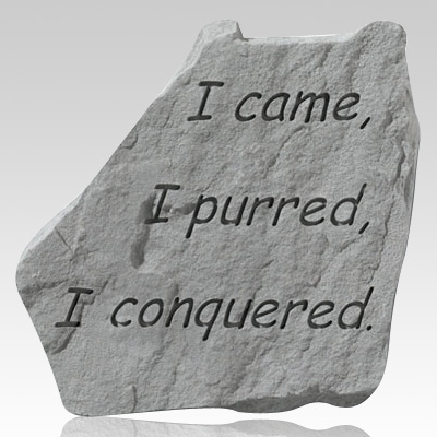 Came Purred Conqured Pet Memory Stone
