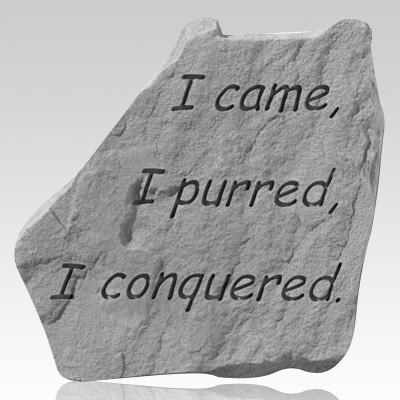I Came I Purred Stone