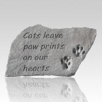 Cats Leave Pawprints Grave Stone
