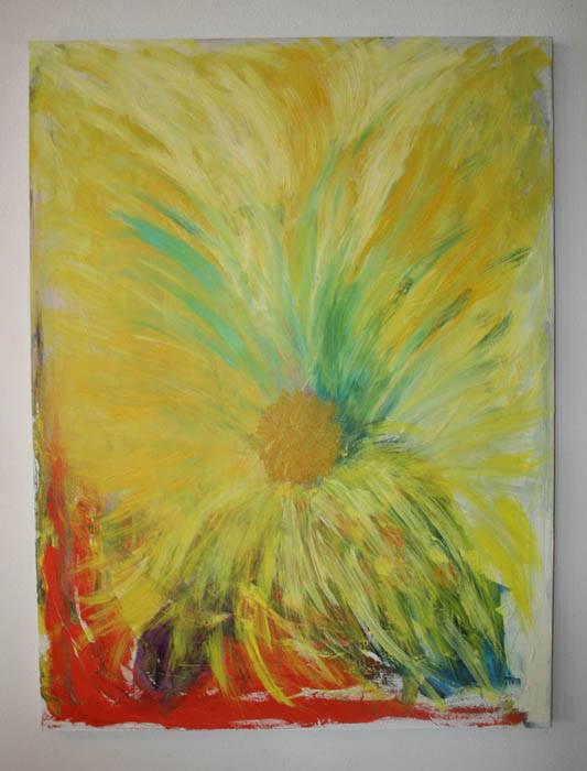 Fruit of Life Cremation Ash Painting