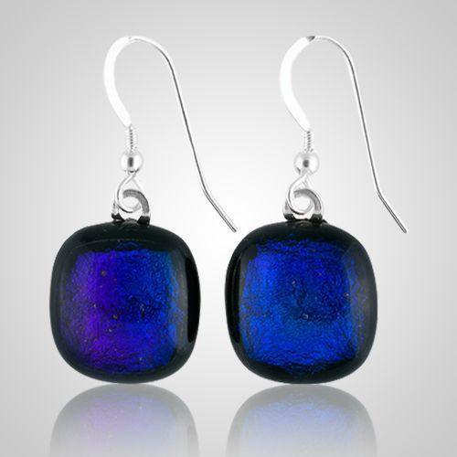 Purple Memorial Earrings