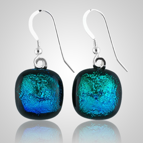 Aqua Memorial Earrings