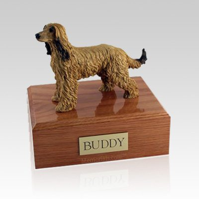 Afghan Hound Large Dog Urn